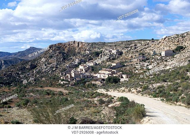 Marchalico Viñicas, abandoned village in gypsum karst of Sorbas. Almeria province, Andalucia, Spain