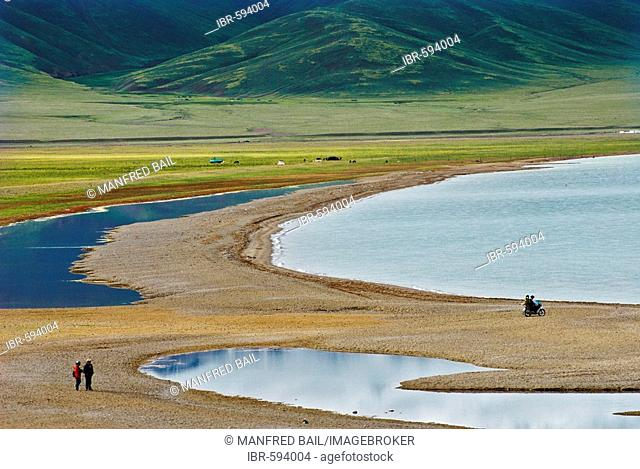Lagoon at the Nam-Tsho-Lake, Tibet