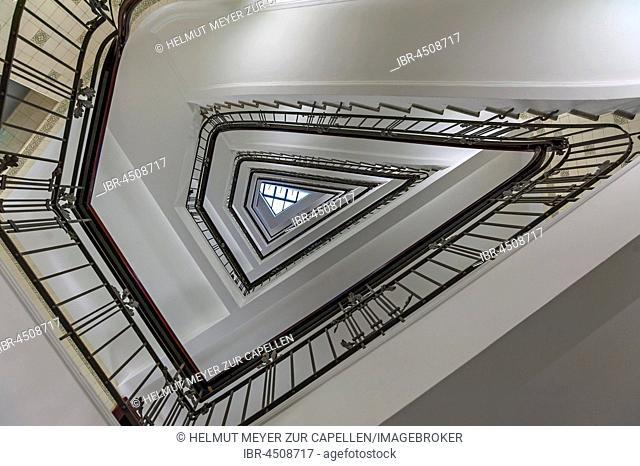 Art nouveau staircase, Körnerhaus, Hamburg, Germany
