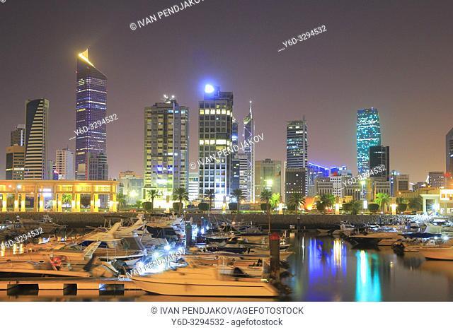 Kuwait City at Night, Kuwait