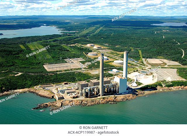 aerial, nuclear power station, Coleson Cove, New Brunswick