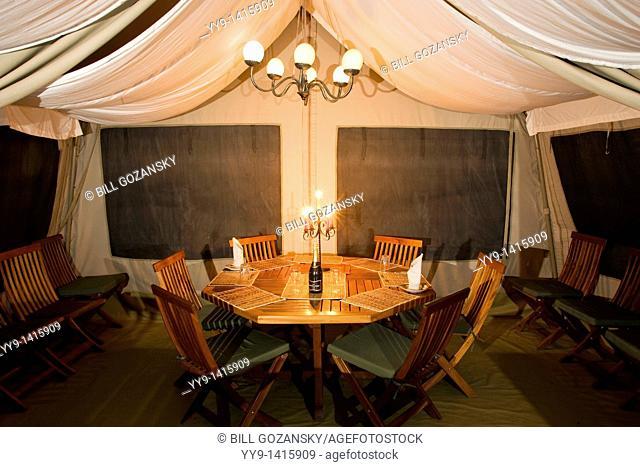 Dining tent at JK Mara Camp - near Masai Mara National Reserve, Kenya