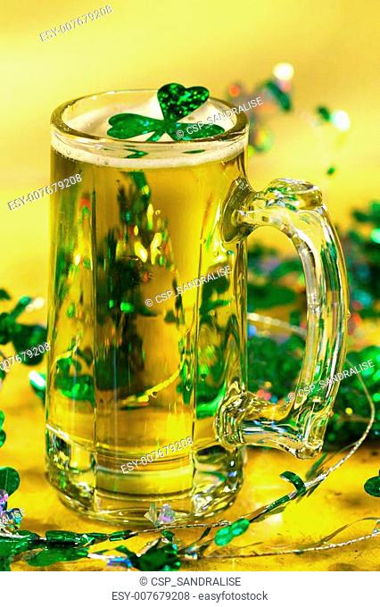 St Patrick\'s Day green beer