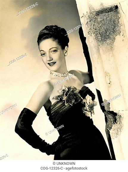 The actress Dorothy Lamour