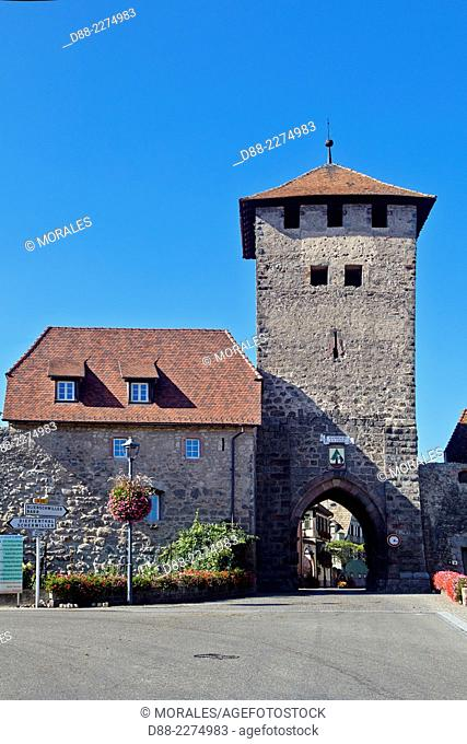 France,Alsace,Bas-Rhin (67),Wine Route,Dambach the city,entrance of the village,