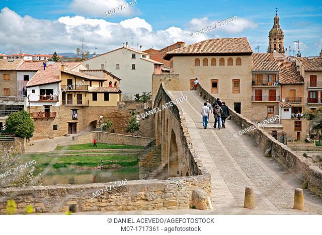 Santiago Way trough Puente La Reina, Navarre, Spain