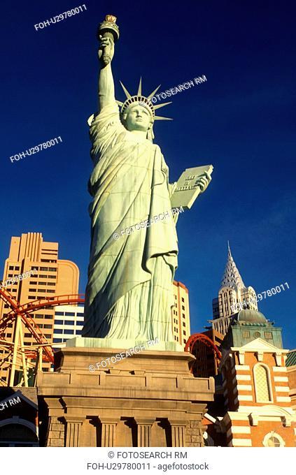 Las Vegas, Statue of Liberty, casino, Nevada, NV, The Strip, Replica of the Statue of Liberty at New-York New-York Hotel & Casino on The Strip in Las Vegas