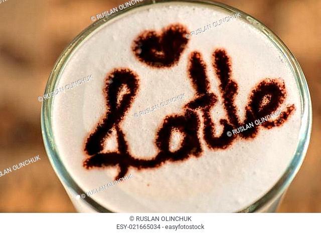 latte closeup