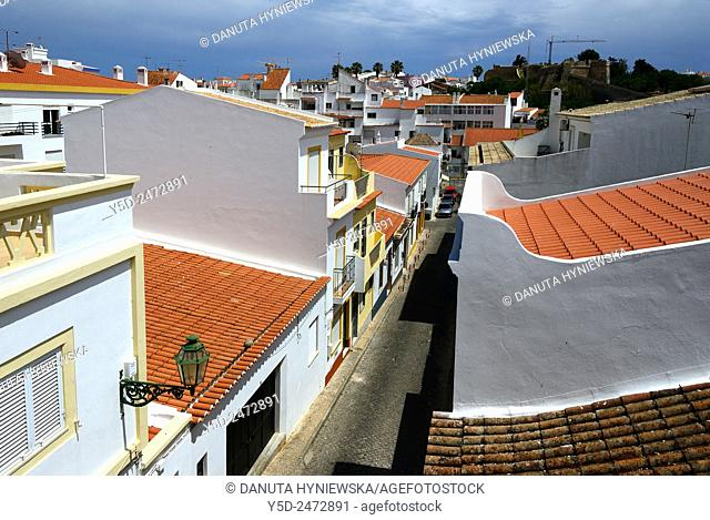 Europe, Portugal, Southern Portugal , Algarve region , Faro district , Lagos , old town scenery