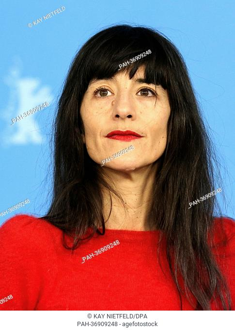 French actress Romane Bohringer poses at a photocall for the movie 'Vic+Flo Saw a Bear' ('Vic+Flo ont vu un ours') during the 63rd annual Berlin International...