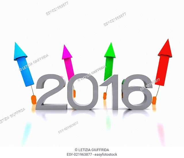 Here comes the new year .. 2016 - 3D