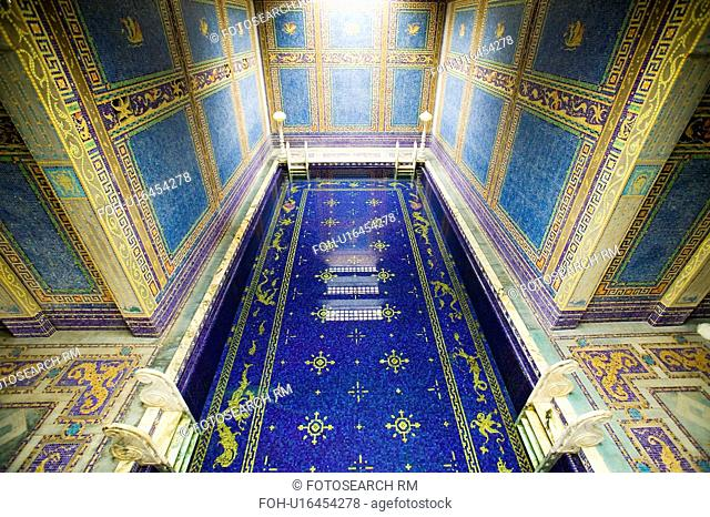 Indoor Roman Pool at Hearst Castle, San Simeon, California, where many celebrities went swimming