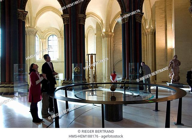 France, Paris, Musee des Arts et Metiers Arts and Crafts Museum, the Foucault pendulum of 1851