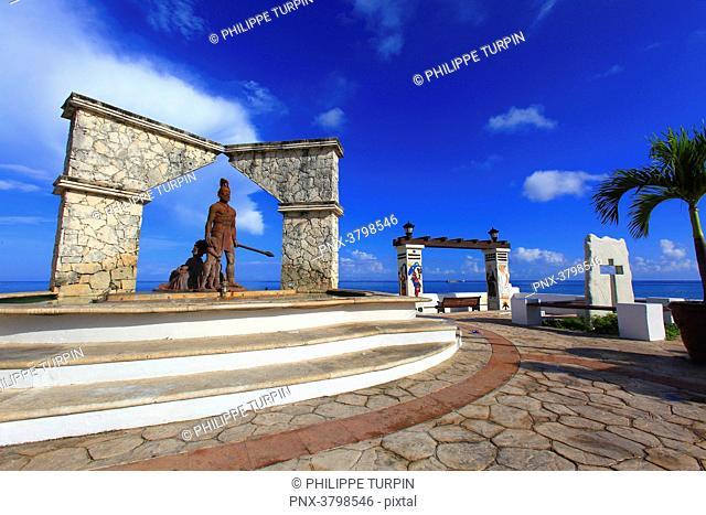 Mexico, Quintana Roo, Cozumel Island. San Miguel de Cozumel. Cross-Breeding monument