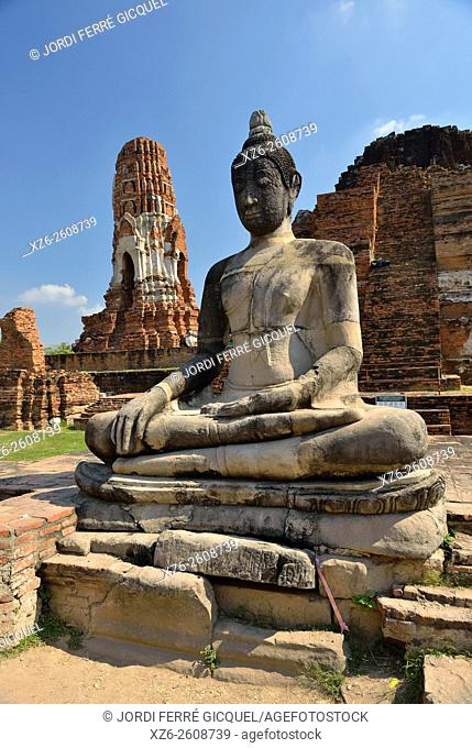 Wat Maha That, buddhist temple, UNESCO World Heritage Site, Phra Nakhon Si Ayutthaya, Thailand, Asia