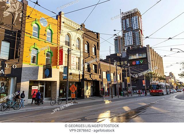 CTV building, Queen Street West. Toronto, Ontario, Canada