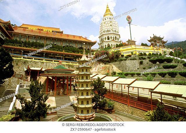 Pagoda at the Kek Lok Si (Temple of Sukhavati) Buddhist Temple, Air Itam, Penang, Penang State, Malaysia
