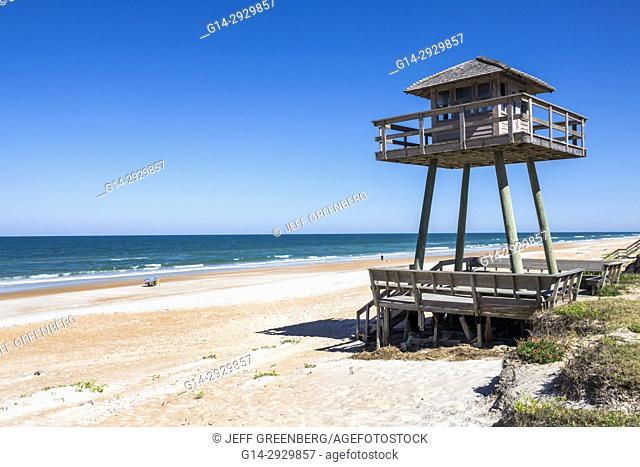 Florida, Ormond Beach, Atlantic Ocean, sand, World War II Submarine Tower