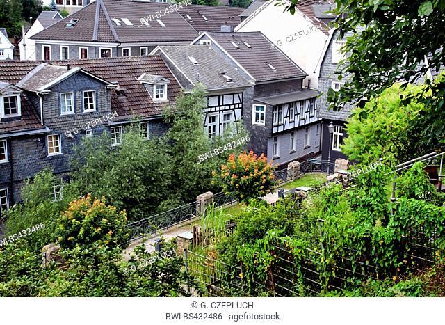 view to the old town of Velbert Langenberg, Germany, North Rhine-Westphalia, Bergisches Land, Velbert