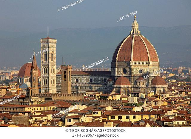Italy, Tuscany, Florence, skyline, Duomo, cathedral