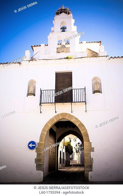 Door 'Arco de Jerez' in Zafra, Badajoz province, Extremadura, Spain