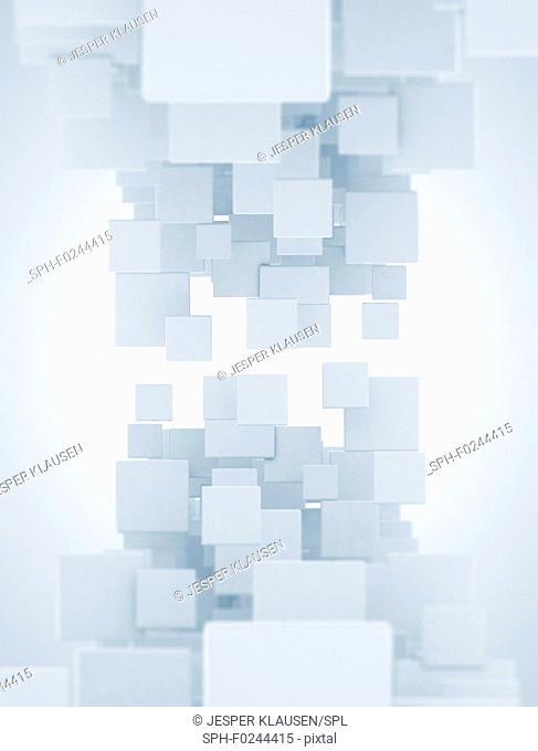 Abstract overlapping squares, illustration