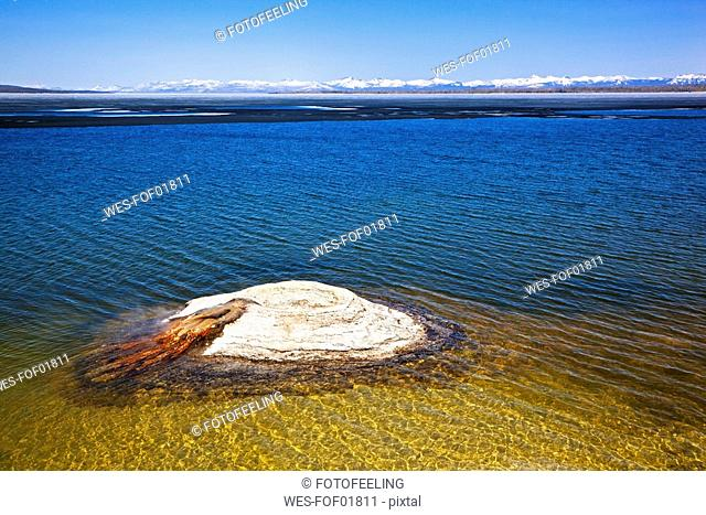 USA, Yellowstone Park, The Fishing Cone, Yellowstone Lake