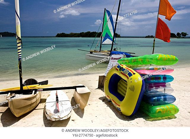 Trimaran and inflatable toys Chaweng Beach Ko Samui Thailand
