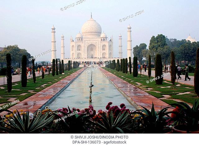 Taj mahal Seventh Wonder of World ; Agra ; Uttar Pradesh ; India