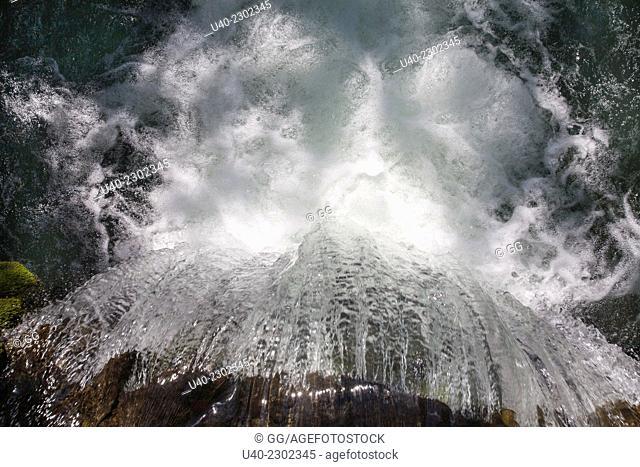 Guatemala, Alta Verapaz, Coban, Rey Marcos sanctuary waterfall