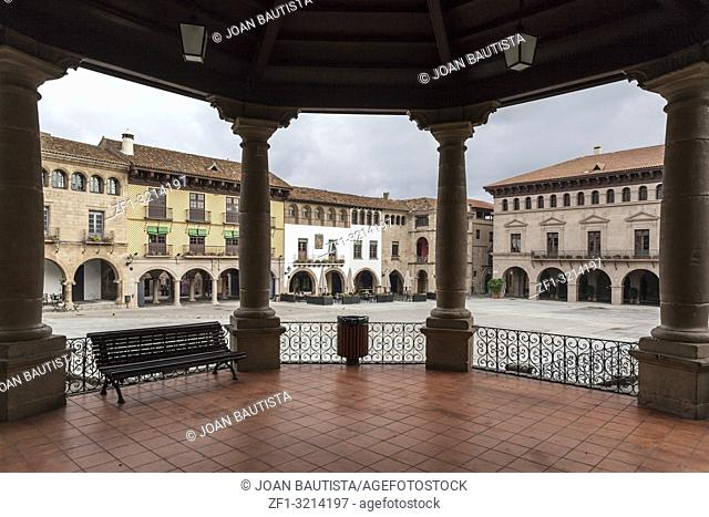 Poble Espanyol, Spanish town. Architectural museum built for the 1929 Barcelona International Exposition, tourist attraction in park of Montjuic, Barcelona
