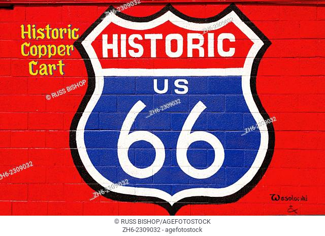 Sign on historic Route 66, Seligman, Arizona USA