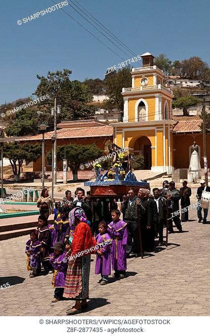 Easter Procession, San Cristobal Totonicapan, Guatemala