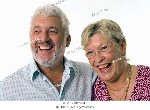 Mature couple, laughing