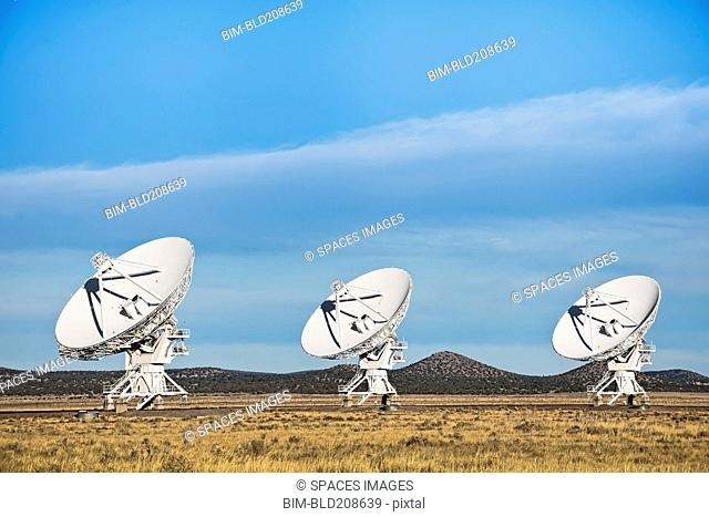 Radio telescopes in the landscape in New Mexico