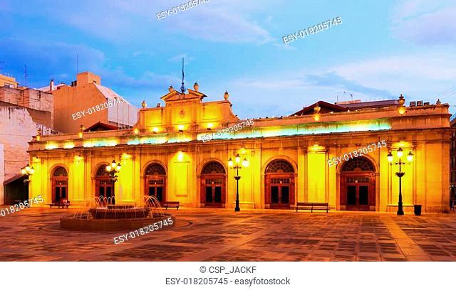 old market at night. Castellon de la Plana