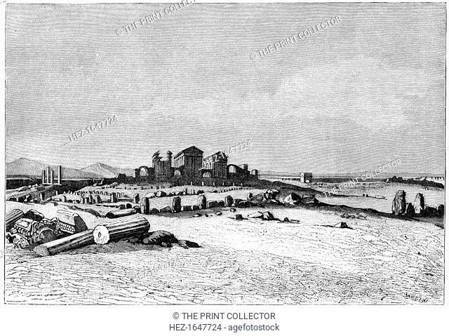 'Ruins of Sbeitla, the ancient Sufetula', c1890. The Roman city of Sufetula at Sbeitla in Tunisia. Illustration from The Universal Geography with Illustrations...