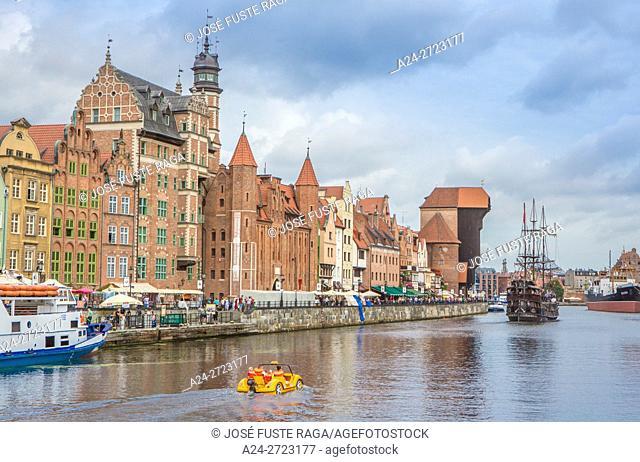 Poland, Gdansk City, (W. H. ), Gdansk Old Town, Gdansk Zuraw Crane