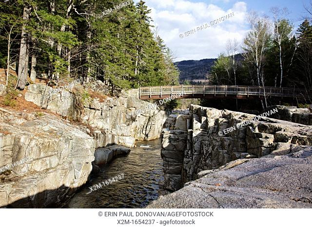 Rocky Gorge Scenic Area along the Swift River in the White Mountain National Forest of New Hampshire USA  This is a roadside attraction along the Kancamagus...