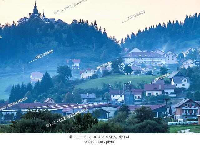 Travnik village, Ribnica, Slovenia