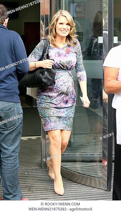 Charlotte Hawkins outside the ITV Studios Featuring: Charlotte Hawkins Where: London, United Kingdom When: 30 Oct 2014 Credit: Rocky/WENN.com