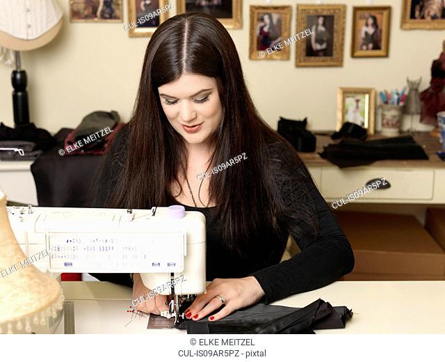 Corset maker using sewing machine