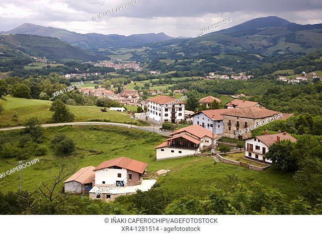 View of Irurita, Balcony of Baztan, Irurita, Navarra Nafarroa, ESpain España