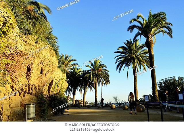 Park Güell by Antoni Gaudí architect. Barcelona, Catalonia, Spain