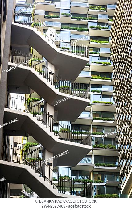 Central Park, a major mixed-use urban renewal project located on Broadway in the suburb of Chippendale, Sydney, NSW, Australia