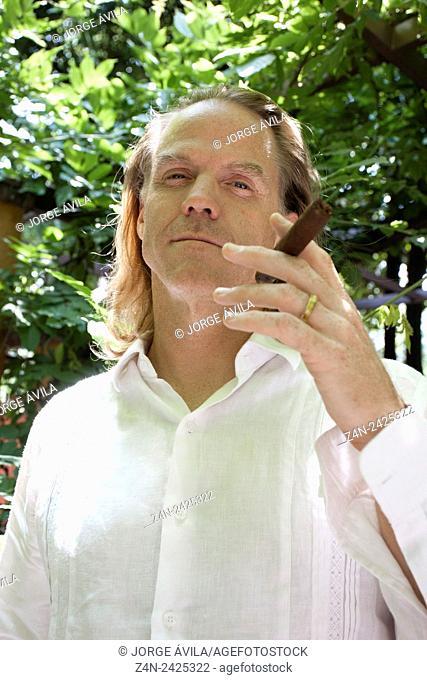 Smoking man. Coyoacan, Mexico City