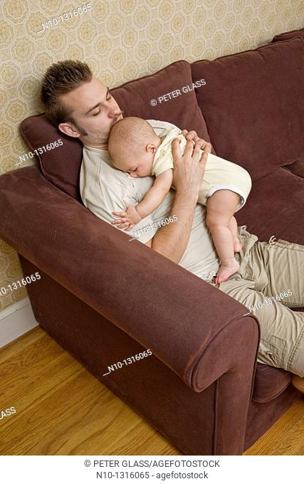 Father with his six-month old son