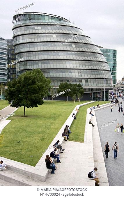 New City Hall building by Norman Foster, London. England, UK