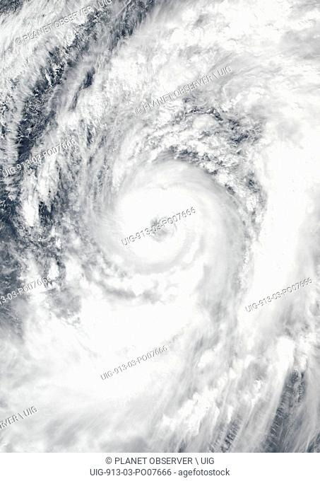 Typhoon Lan over Western Pacific Ocean in 2017