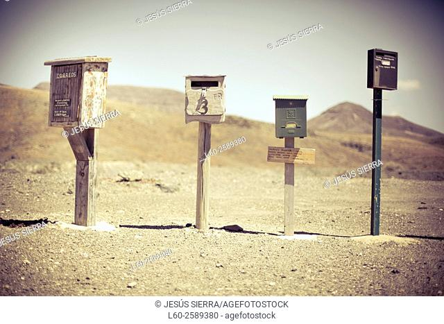 Post boxes in Fuerteventura, Canary Islands, Spain